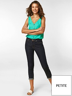 wallis-petite-scarletnbsproll-up-crop-jeans-indigo
