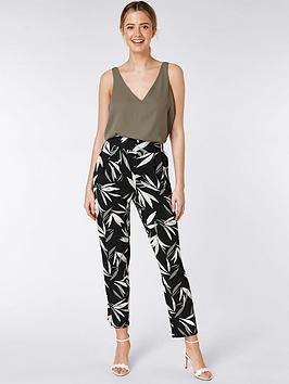 wallis-petite-bamboo-trousers-black