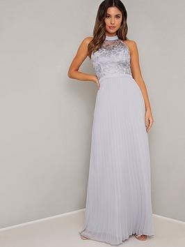 chi chi london Chi Chi London Eula High Neck Maxi Dress - Blue Picture