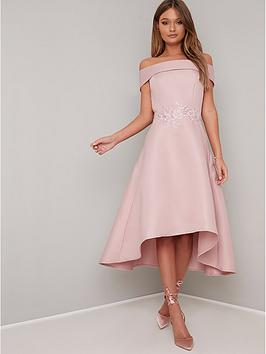 chi chi london Chi Chi London Evelyn Bardot Dress - Pink Picture