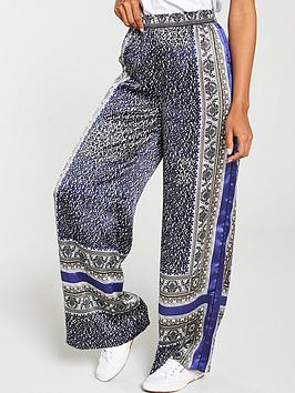 V by Very V By Very Boarder Paisley Wide Leg Trouser - Print Picture