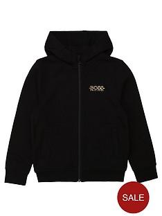 boss-boss-boys-metallic-logo-zipo-through-hoodie