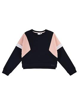 boss-girls-colourblock-sweat
