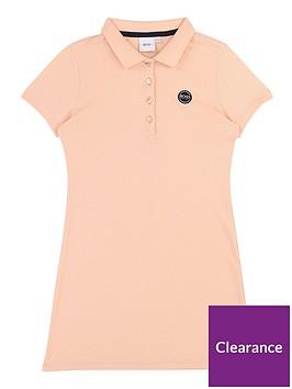 boss-girls-short-sleeve-polo-dress-pink