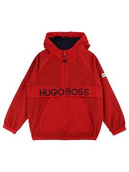 Boss Boss Boys Logo Over The Head Windbreaker - Red Picture