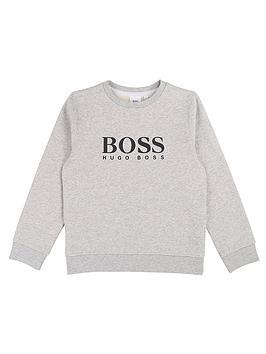 boss-boys-classic-logo-crew-sweat-grey