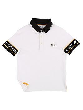 boss-boys-short-sleeve-logo-arm-polo-shirt-white