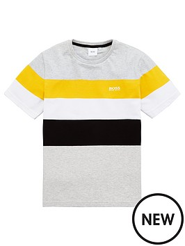boss-boys-short-sleeve-stripe-t-shirt-grey