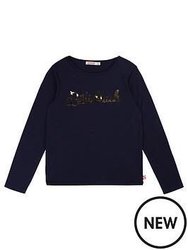 billieblush-girls-long-sleeve-metallic-logo-t-shirt-blue