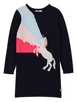 billieblush-girls-knitted-unicorn-sequin-jumper-dress-navy