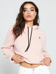 fila-crop-hoodie-pink