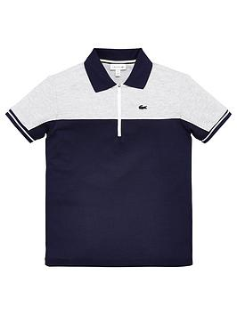 lacoste-boys-short-sleeve-colour-block-zip-polo-shirt-grey