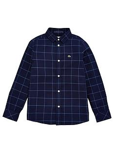 lacoste-boys-long-sleeve-check-shirt-navy