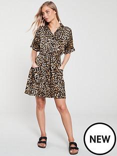 v-by-very-tie-waist-tea-dressnbsp--animal-print