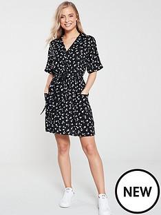 v-by-very-floral-tie-waist-tea-dress-print