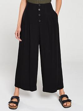 v-by-very-button-front-casual-trouser-black