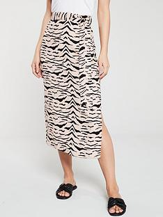 v-by-very-bias-cut-midi-skirt-zebra
