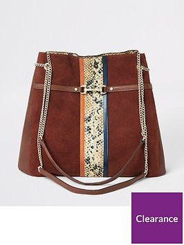 river-island-river-island-snake-panel-leather-slouch-bag-rust