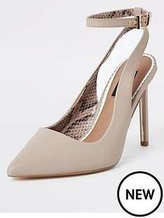 1c27427ff5 River Island River Island Wide Fit Ankle Strap Court Shoe - Light Pink