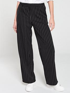 V by Very V By Very Wide Leg Trouser - Mono/Stripe Picture