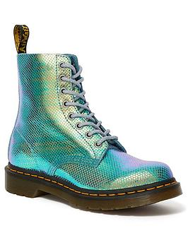 dr-martens-1460-pascal-ankle-boots-blue-iridescent