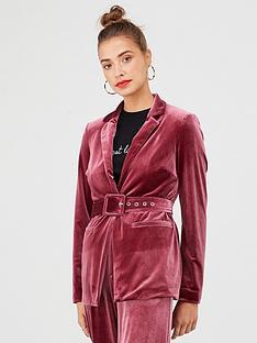 v-by-very-belted-velvet-jacket-plum