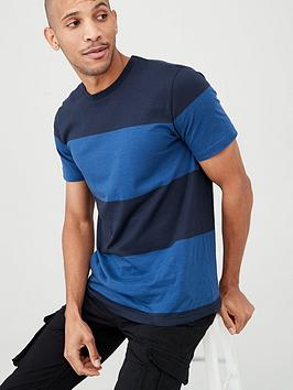 V by Very V By Very Block Stripe T-Shirt - Blue Picture