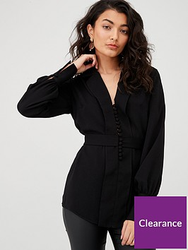 v-by-very-button-through-tie-back-blouse-blacknbsp