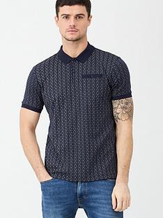 v-by-very-geometric-jersey-polo-shirt-navy