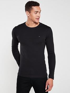 tommy-jeans-original-flag-logo-long-sleeved-t-shirt-black
