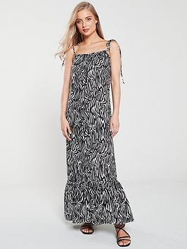warehouse-warehouse-zebra-tie-shoulder-maxi-beach-dress