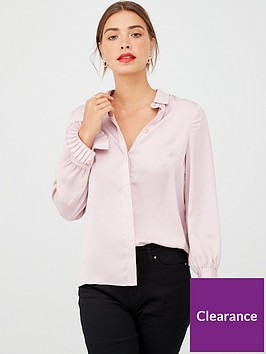 v-by-very-pleat-cuff-button-through-shirt-pink