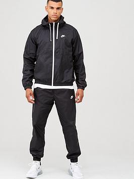 Nike Sportswear Hooded Woven Tracksuit - Black