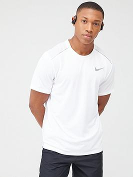 Nike Nike Dry Miler Running T-Shirt - White Picture