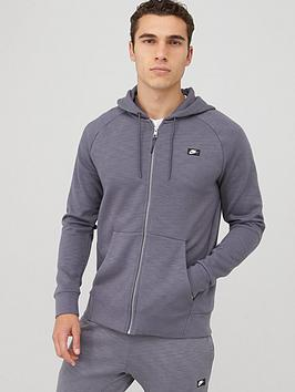 Nike Nike Sportswear Optic Full Zip Hoodie - Charcoal Picture