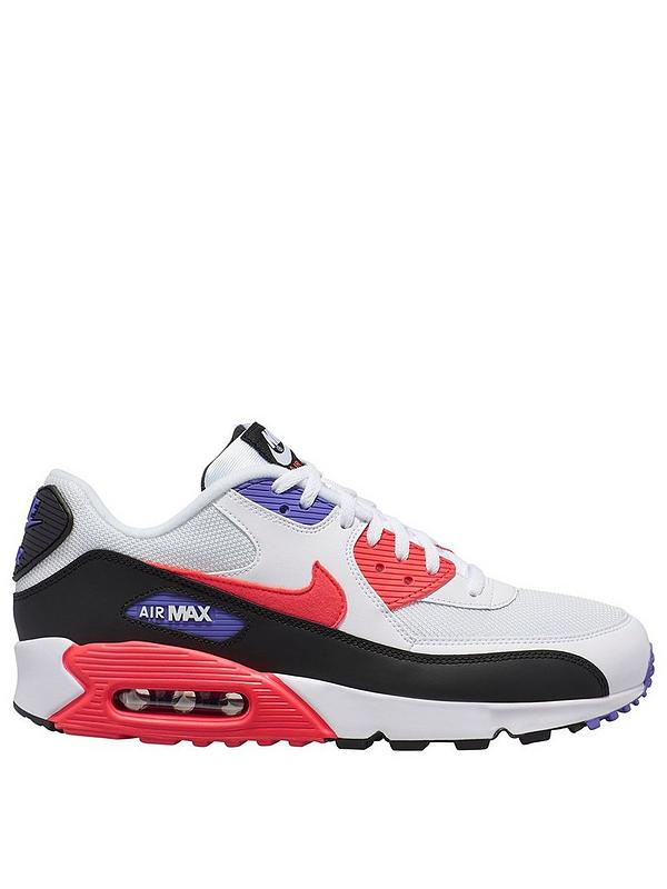 Details about Nike Air Max 90 Essential Men's Shoes White Red Orbit Psychic Purple AJ1285 106