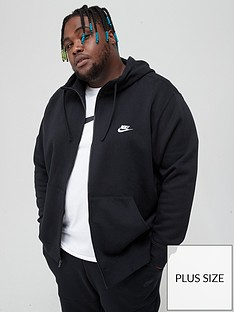nike-sportswear-plus-size-club-fleece-full-zip-hoodie-black