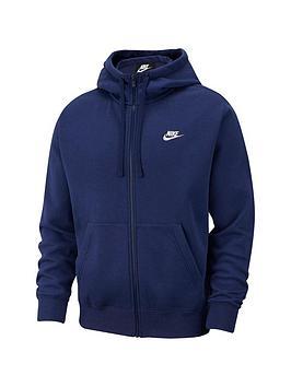 Nike Nike Sportswear Plus Size Club Fleece Full Zip Hoodie - Navy Picture