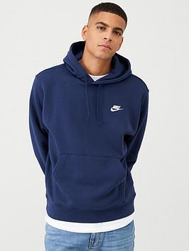 Nike Nike Sportswear Club Fleece Overhead Hoodie - Navy Picture