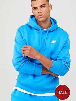nike-sportswear-club-fleece-overhead-hoodie-blue