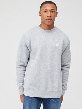 Nike Nike Sportswear Club Fleece Crew Neck Sweat - Dark Grey Picture