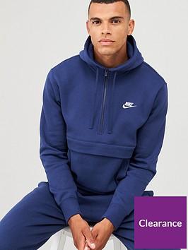 nike-sportswear-club-fleece-12-zip-hoodie-navy
