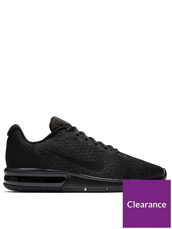 Género Quinto foso  Nike Air Max Sequent 2 - Black | littlewoods.com