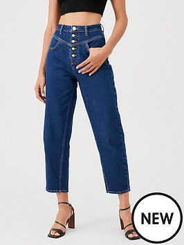 v-by-very-high-waist-barrel-leg-jean-dark-wash
