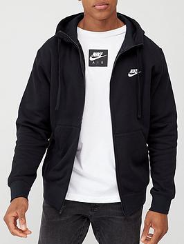 Nike Nike Sportswear Club Fleece Full Zip Hoodie - Black Picture