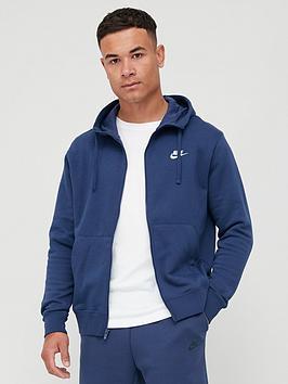 Nike Nike Sportswear Club Fleece Full Zip Hoodie - Navy Picture