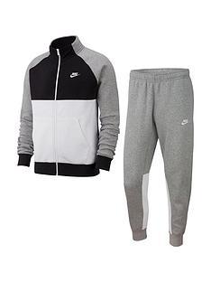 nike-sportswear-fleece-tracksuit-grey