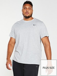 nike-plus-size-solid-crew-neck-t-shirt-grey