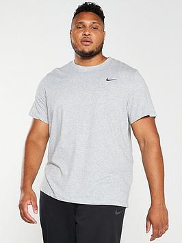 Nike Nike Plus Size Solid Crew Neck T-Shirt - Grey Picture