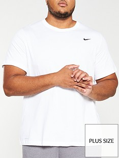 nike-plus-size-solid-crew-neck-t-shirt-white